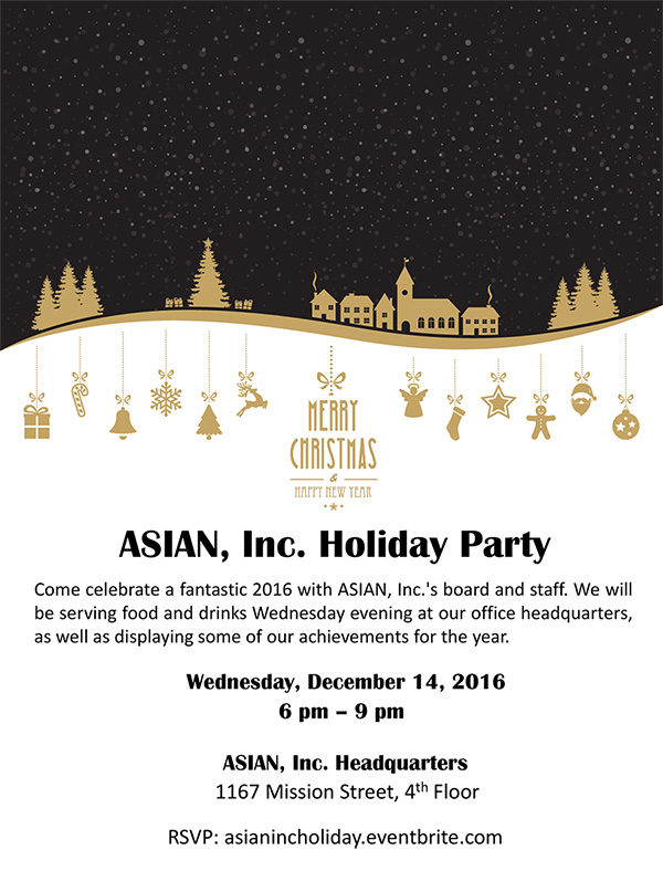 ASIAN, Inc. Holiday Party Invitation